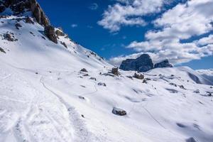witte valleien in de Dolomieten foto