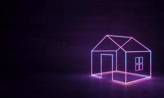 abstracte neonvormen foto