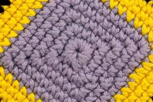 abstracte textuur van een gebreide stof foto