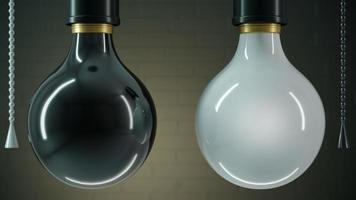 twee lampen zwart en wit foto