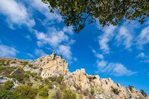 saint hilarion kasteel kyrenia cyprus foto