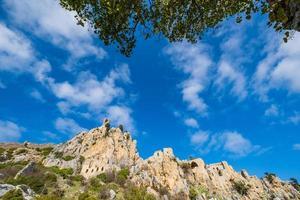 Saint Hilarion-kasteel in Kyrenia in Cyprus foto