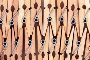 macro oude houten wasknijpers achtergrond foto