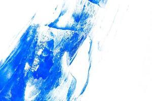 verf penseelstreek textuur achtergrond van blauwe aquarel foto