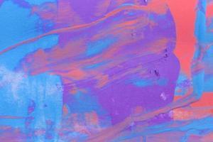 verf penseelstreek textuur achtergrond van veelkleurige aquarel foto