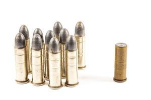 denk aan een andere groep kogels en een enkele kogel foto