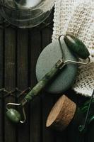 een jade roller stilleven foto
