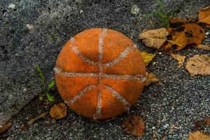 basketbal versleten foto