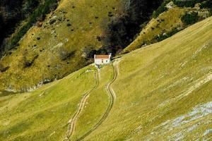 alpine boerderijen een foto