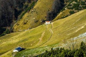 alpine boerderijen nul foto