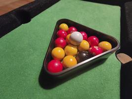miniatuur biljartballen foto