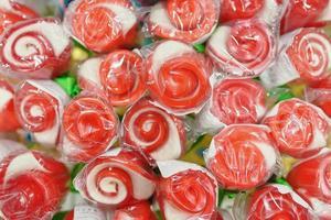 lollies in de vorm van een boeket rozen foto
