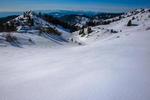 besneeuwde landschappen nul foto