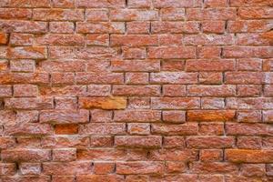 geërodeerde bakstenen muur foto