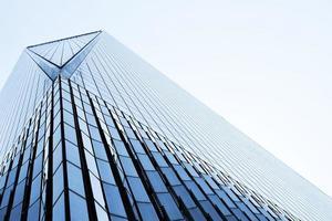 lage hoekfotografie van hoogbouw foto