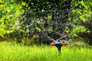 tuinsproeier drenken gras foto
