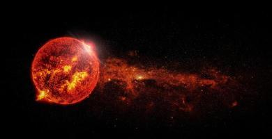 zon op ruimte achtergrondelementen van deze afbeelding geleverd door nasa foto