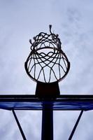 straat basketbal hoepel silhouet foto