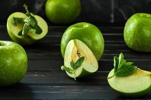 het concept van gezond eten van verse appels foto