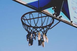 straat basketbal hoepel sport foto