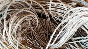 groep hennep touw textuur patroon achtergrond foto