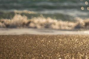 zee surf zomer en strand bokeh behang foto