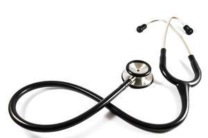stethoscoop in oneindigheidssymbool geïsoleerd foto