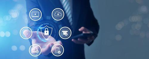 bescherming met netwerkbeveiligingsgegevens en veiligheid foto
