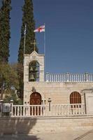 heiligdom boven de grot van getsemane op de Olijfberg bij Jeruzalem foto