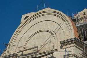 bouw van de spaso preobrazhensky-kathedraal foto