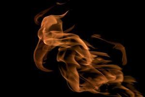 behang vuur en vlammen op een zwarte achtergrond foto
