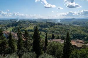 uitzicht over Toscane vanuit San Miniato foto