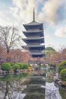 Kyoto, Japan 2019- bewolkte dag in de ji-tempel in Kyoto foto