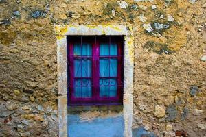 kleurrijke houten deur foto