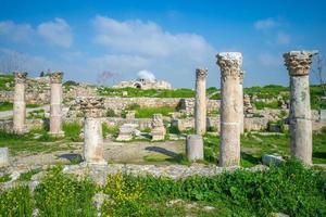byzantijnse kerk in amman citadel jordan foto