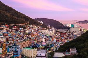 gamcheon-cultuurdorp in busan in zuid-korea foto