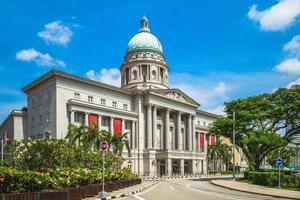 gevel van de nationale galerij in singapore foto