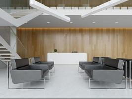 3D-gerenderde modern interieur foto