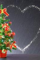 decoratieve kerst- of nieuwjaarsachtergrond foto