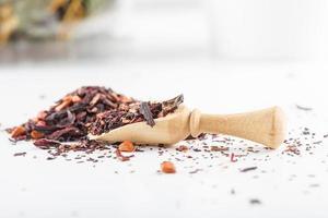 aziatische aromatische theekruiden goede gezondheid en mentale voordelen foto