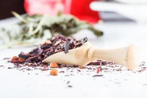 Aziatische aromatische theekruiden mentale en gezondheidsvoordelen foto