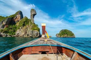 koh kai houten boot krabi thailand foto