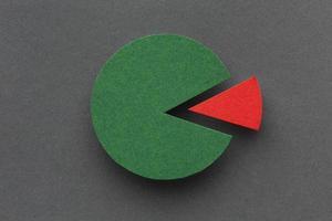 stats concept met cirkeldiagram bovenaanzicht stats concept met cirkeldiagram bovenaanzicht foto