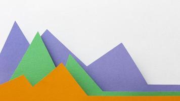 grafisch concept met kleurrijk papier plat gelegd foto