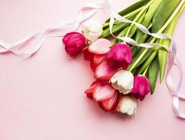 mooi tulpenboeket foto