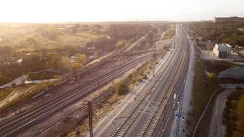 bovenaanzicht van transportconcepten foto