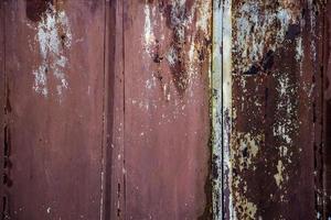 de textuur van het oude roestige metaal. foto