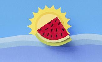 opstelling van elementen van het zomerstilleven foto