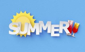samenstelling van papieren zomerstilleven-elementen foto