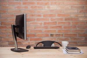 modern bureau in thuiskantoor foto